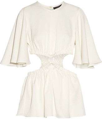 Ellery - Apocalyptic Cutout Satin-crepe Top - Off-white $840 thestylecure.com