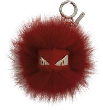 Fendi Red Fur Bag Bugs Keychain