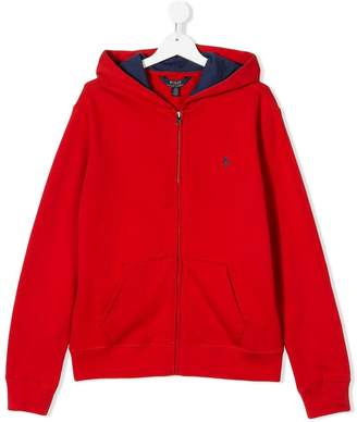 Ralph Lauren Kids TEEN logo embroidered full-zip hoodie