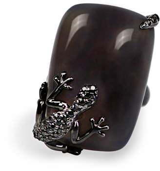 Bellus Domina - Agate Lizard Cocktail Ring