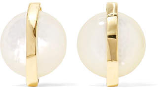 Ippolita Senso 18-karat Gold Mother-of-pearl Earrings