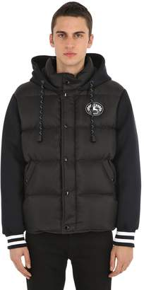 Burberry Down Jacket W/ Neoprene Sleeves & Hood