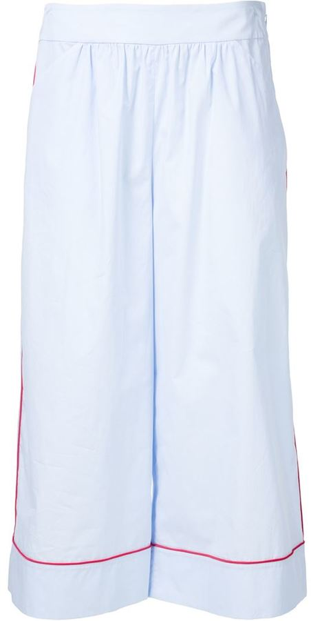 Thakoon wide leg cropped trousers