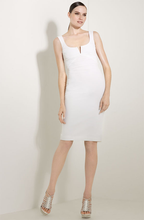 Versace Cotton Piqué Sheath Dress