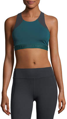 Under Armour Scoop-Neck Cross-Back Performance Sports Bra