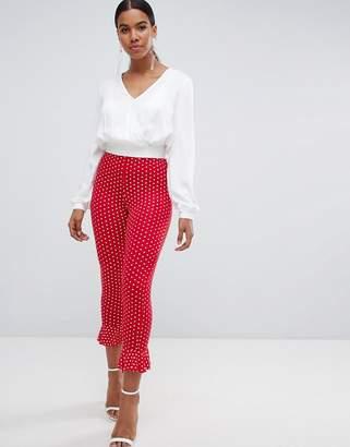 Missguided polka dot frill trouser