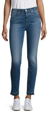 7 For All Mankind b(air) High-Waist Released Hem Skinny Ankle Jeans $189 thestylecure.com