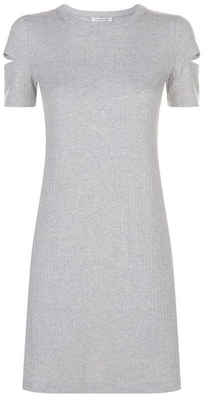 Ribbed Cut Sleeve Dress