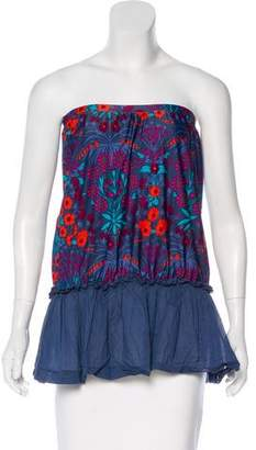 Marc by Marc Jacobs Floral Peplum Swimsuit Top