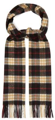 Burberry Vintage Check Cashmere Scarf - Womens - Black