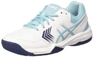 Asics Women's Gel-Dedicate 5 Tennis Shoes, (White/Porcelain Indigo Blue 0114), 40 EU ()