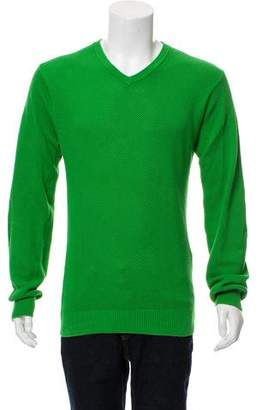 Marc Jacobs Ribbed Trim V-Neck Sweater