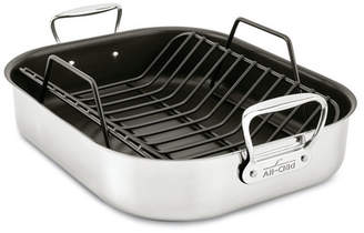 """All-Clad Specialty Cookware 13"""" Non-Stick Large Roaster with Rack"""