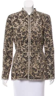 Oscar de la Renta Sequin Evening Jacket