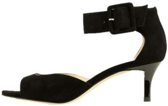Pelle Moda Black Suede Sandal