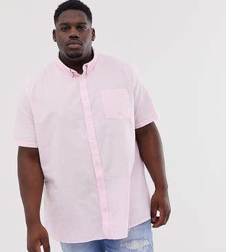 Burton Menswear Big & Tall oxford shirt in pink