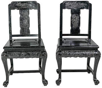 One Kings Lane Vintage Chinoiserie Side Chairs - Set of 2 - Madcap Cottage