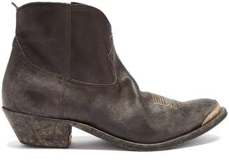 Golden Goose Young distressed-leather ankle boots