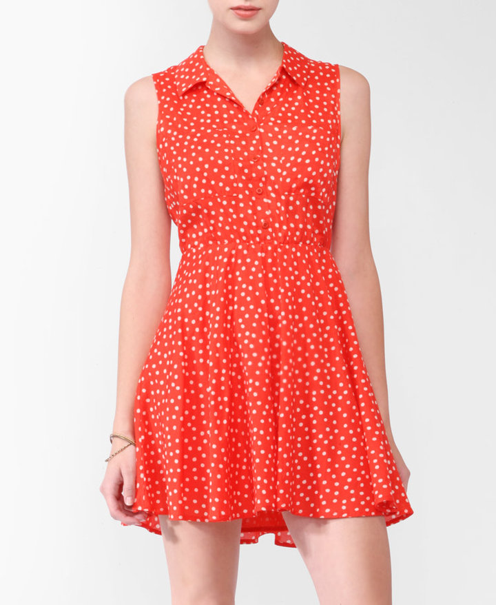 Heritage 1981 Dotted Collar Dress