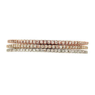 JCPenney FINE JEWELRY LIMITED QUANTITIES 1/4 CT. T.W. Diamond 14K Tri-Tone Gold Set of 3 Rings