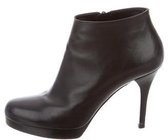 Balenciaga Balenciaga Leather Round-Toe Booties