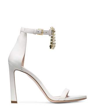 hanging crystal sandals - White Stuart Weitzman