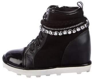Stuart Weitzman Girls' Embellished Wedge Sneakers