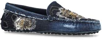 Tod's Denim Gommino Loafers
