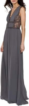 Heartloom Charlee V-Neck Chiffon Gown