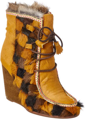 Frye Parker Patch Wedge Bootie