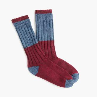 J.Crew Colorblock camp socks