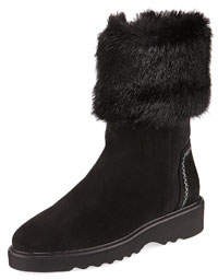 Kathy Faux-Fur Lined Booties
