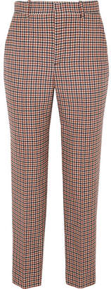 Balenciaga Checked Wool-blend Tweed Straight-leg Pants - Brown