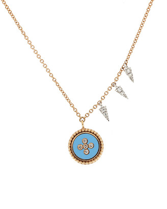 Meira T 14K Rose Gold Diamond Necklace