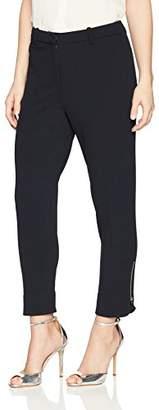 Ellen Tracy Women's Petite Zip Ankle Pant