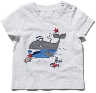 M&Co Whale applique t-shirt