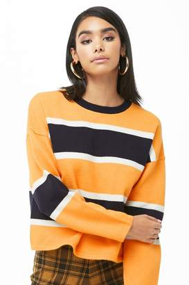 Forever 21 Striped Drop-Shoulder Sweater
