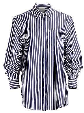 3.1 Phillip Lim Women's Stripe Gather-Sleeve Shirt