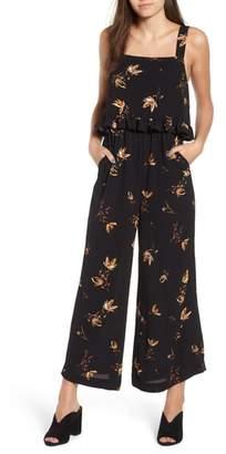 BP Ruffled Floral Print Jumpsuit