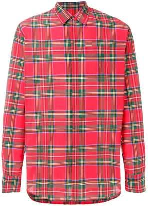 DSQUARED2 tartan pattern shirt