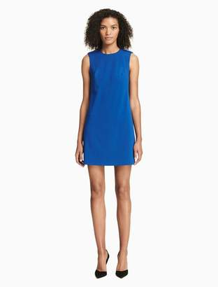 Calvin Klein button neck sheath dress