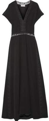 Paul & Joe Lace-Trimmed Silk Crepe De Chine Maxi Dress