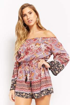 Forever 21 Floral Off-the-Shoulder Romper