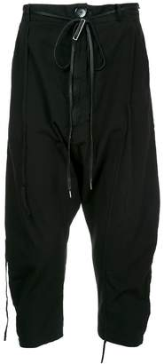 Army Of Me cropped drop crotch trousers