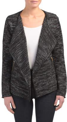 Long Sleeve Flyaway Open Sweater Jacket