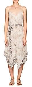 L'Agence Women's Azalea Snakeskin-Print Silk Slipdress-Peach