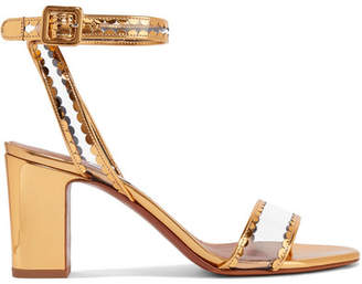 Tabitha Simmons Leticia Patent-leather And Pvc Sandals - Gold