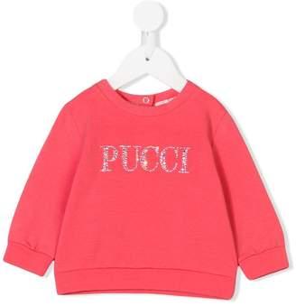 Emilio Pucci Junior logo sweatshirt