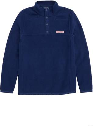 Vineyard Vines Shep Snap Placket Fleece Pullover