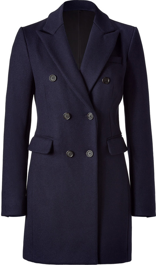 Closed Navy Short Coat